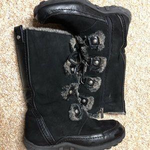 Nine West Fur-Lined Black Boots, Size 4